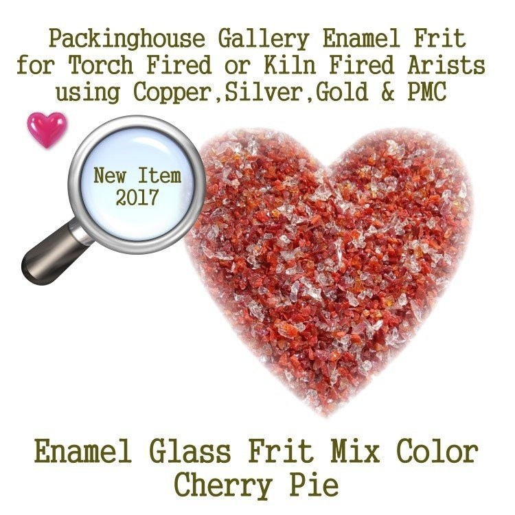 Cherry Pie, 2 oz. Bead Frit, Glass Frit, Enamel Frit, Copper, Gold, Silver,PMC artists, torch fired or kiln fired processes to make beads
