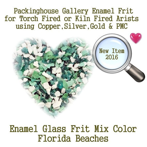 Florida Beaches, 2 oz. Enamel Glass Frit for Copper, Gold, Silver and PMC artists using torch fired or kiln fired processes to make beads