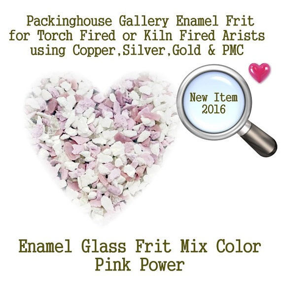 Pink Power, 2 oz. Enamel Glass Frit for Copper, Gold, Silver and PMC artists using torch fired or kiln fired processes to make beads