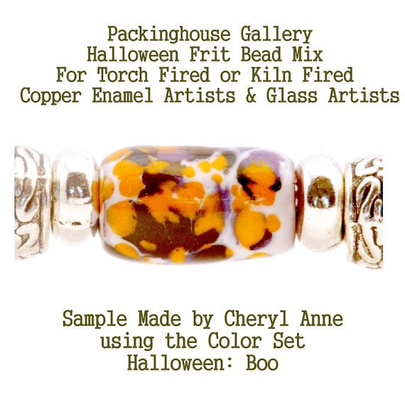 Boo, Halloween Bead Frit Mixes for Glass & Copper for artists using torch fired or kiln fired processes to make beads