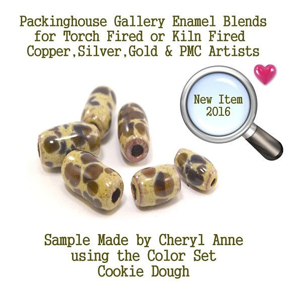 Cookie Dough, Enamel Frit, Glass Frit, for Copper, Gold, Silver, PMC artists. Thompson Enamel, Torch Fire or Kiln Fire