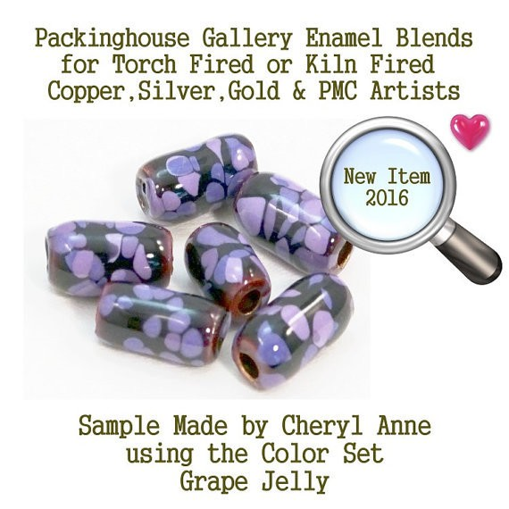 Grape Jelly Enamel Glass Bead Frit for Copper, Gold, Silver and PMC artists using torch fired or kiln fired processes to make beads