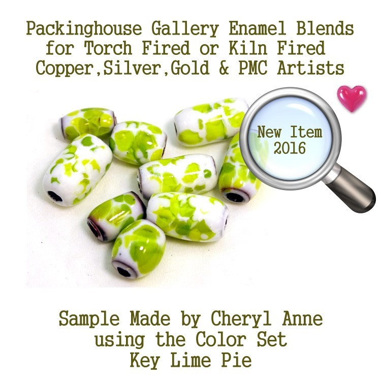 Key Lime Pie, Enamel Glass Frit for Copper, Gold, Silver and PMC artists using torch fired or kiln fired processes to make beads