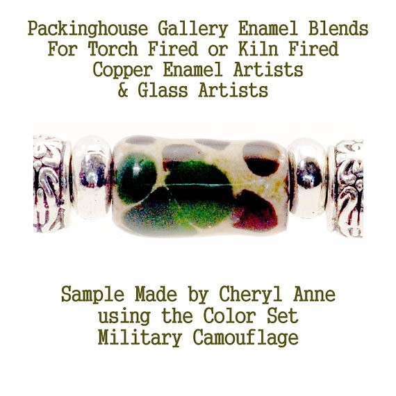Military Camouflage Bead Frit Blend/Mixes for Glass & Copper for artists using torch fired or kiln fired processes to make beads
