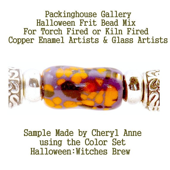 Witches Brew, Halloween Bead Frit Mixes for Glass & Copper for artists using torch fired or kiln fired processes to make beads