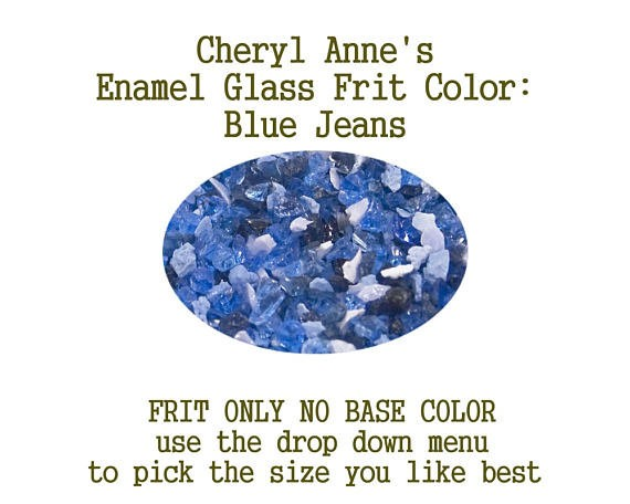 Blue Jeans, Enamel Glass Frit (Frit Only no Base Color) Enamel Frit for Artist using torches or kilns by Cheryl Anne