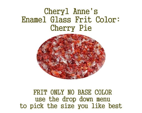 Cherry Pie, Enamel Glass Frit (Frit Only no Base Color) Enamel Frit for Artist using torches or kilns by Cheryl Anne