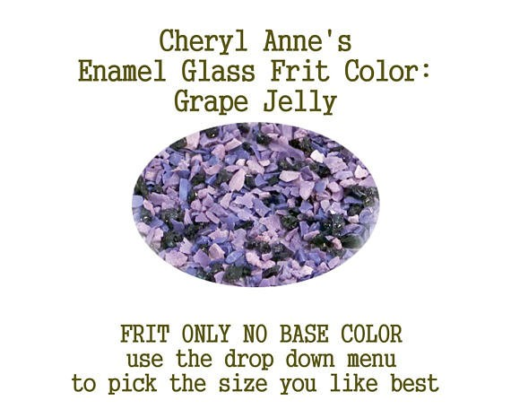 Grape Jelly, Enamel Glass Frit (Frit Only no Base Color) Enamel Frit for Artist using torches or kilns by Cheryl Anne