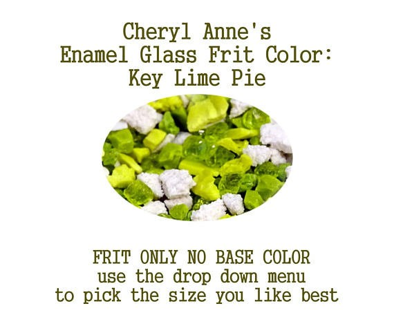 Key Lime Pie, Enamel Glass Frit (Frit Only no Base Color) Enamel Frit for Artist using torches or kilns by Cheryl Anne