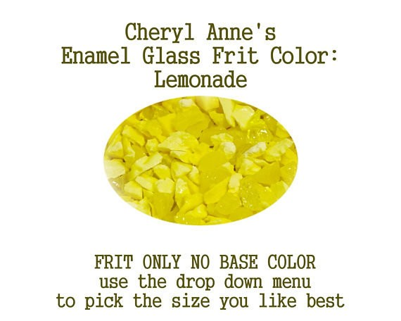 Lemonade, Enamel Glass Frit (Frit Only no Base Color) Enamel Frit for Artist using torches or kilns by Cheryl Anne