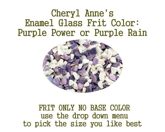 Purple Power or Purple Rain, Enamel Glass Frit (Frit Only no Base Color) Enamel Frit for Artist using torches or kilns by Cheryl Anne