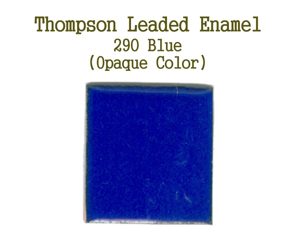 209 Blue, Leaded Enamel for Sale, Thompson Enamel, 80 Mesh Enamels for Torch or Kiln Firing Process