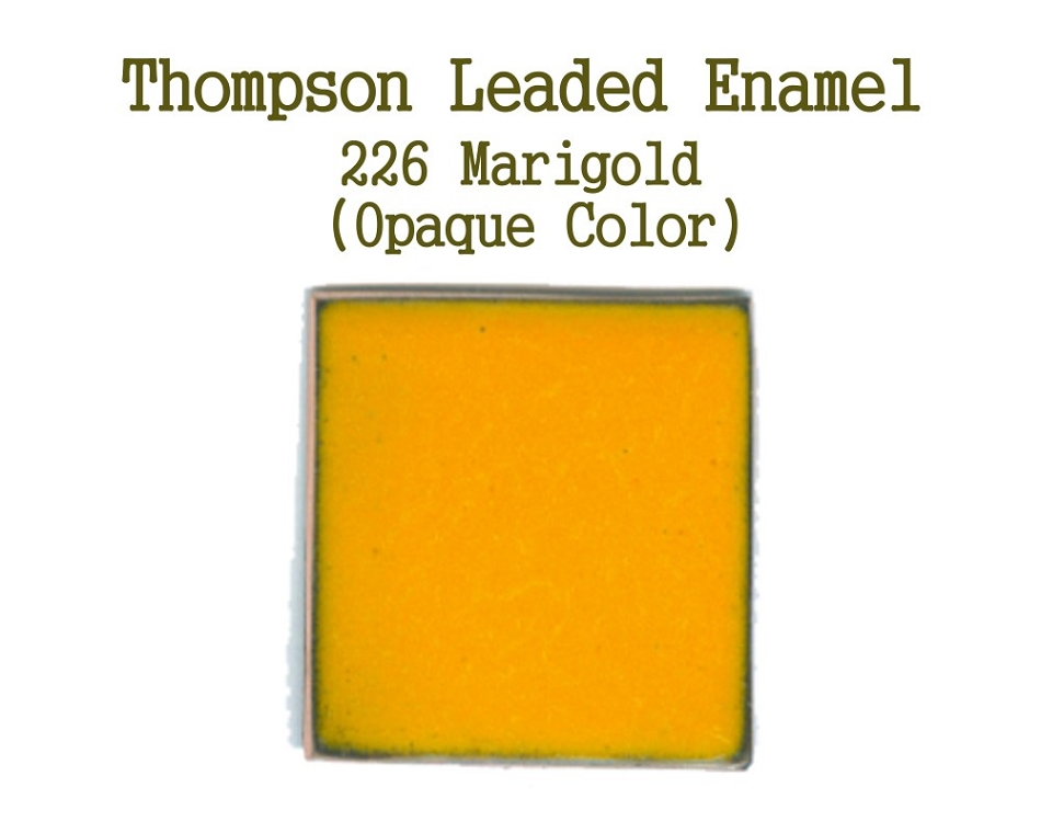 226 Marigold, Leaded Enamel for Sale, Thompson Enamel, 80 Mesh Enamels for Torch or Kiln Firing Process