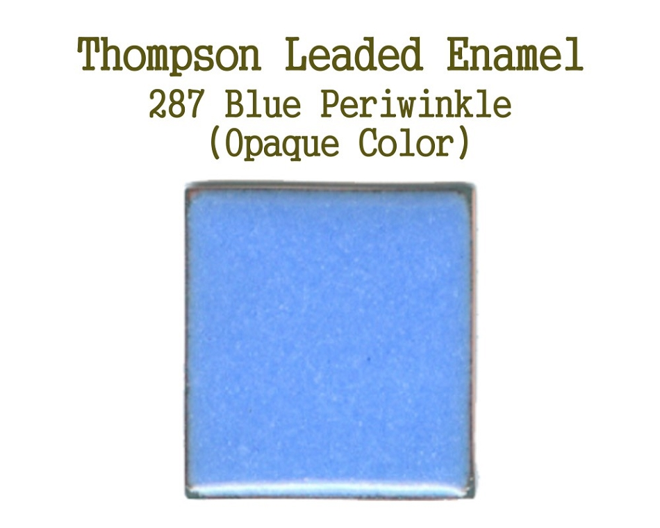 287 Blue Periwinkle, Leaded Enamel for Sale, Thompson Enamel, 80 Mesh Enamels for Torch or Kiln Firing Process