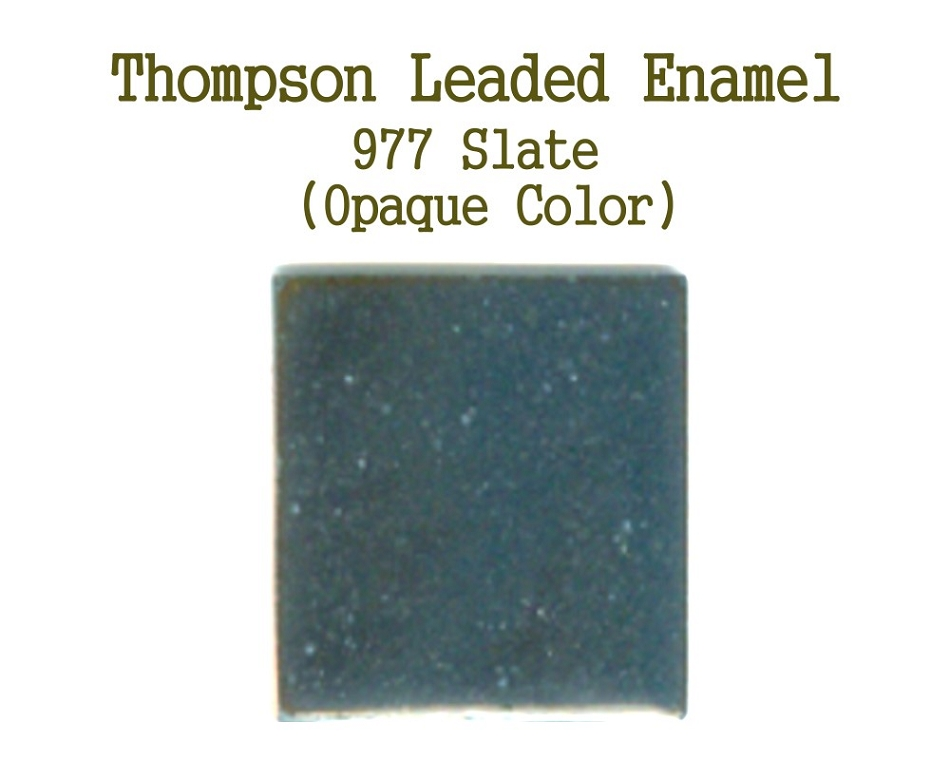 977 Slate, Leaded Enamel for Sale, Thompson Enamel, 80 Mesh Enamels for Torch or Kiln Firing Process