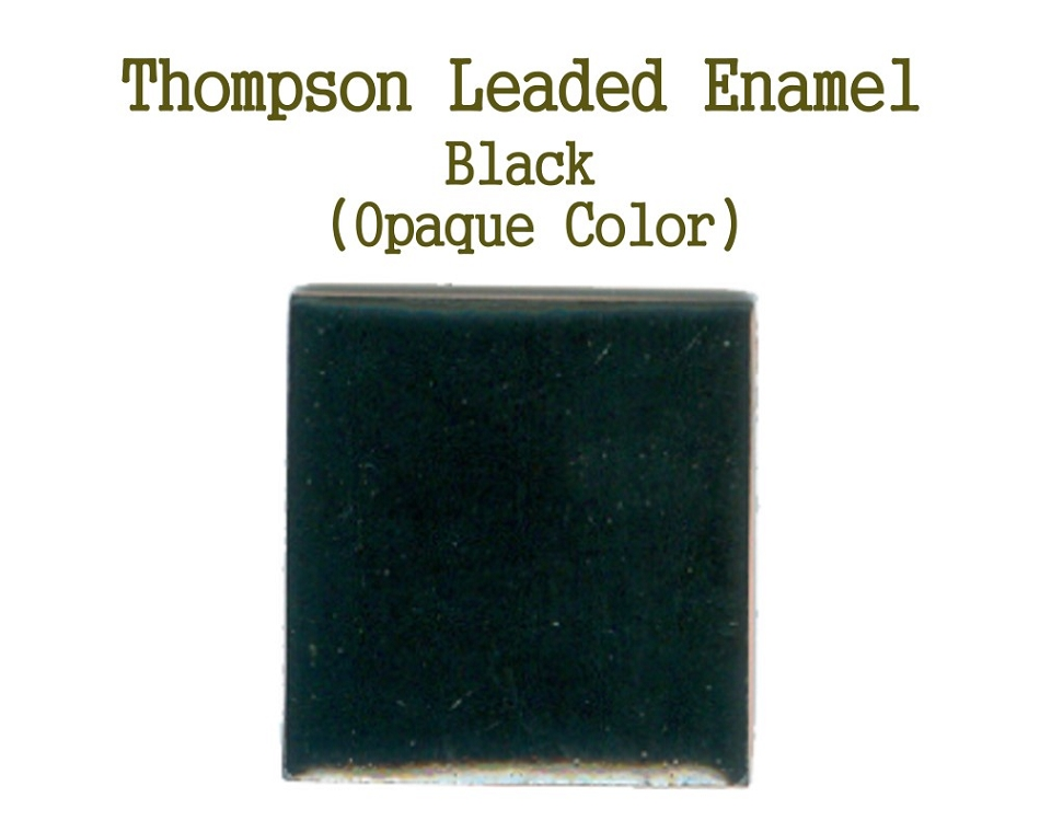 Black, Leaded Enamel for Sale, Thompson Enamel, 80 Mesh Enamels for Torch or Kiln Firing Process