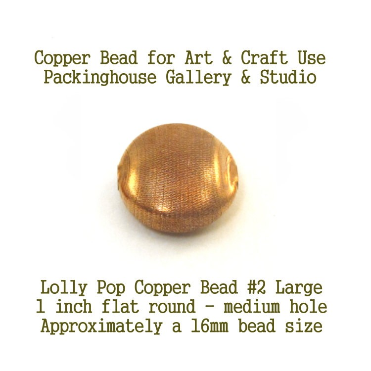 Lolly Pop Bead Large Size, Copper beads for torch fired enamel or glass artist Copper Ball Beads