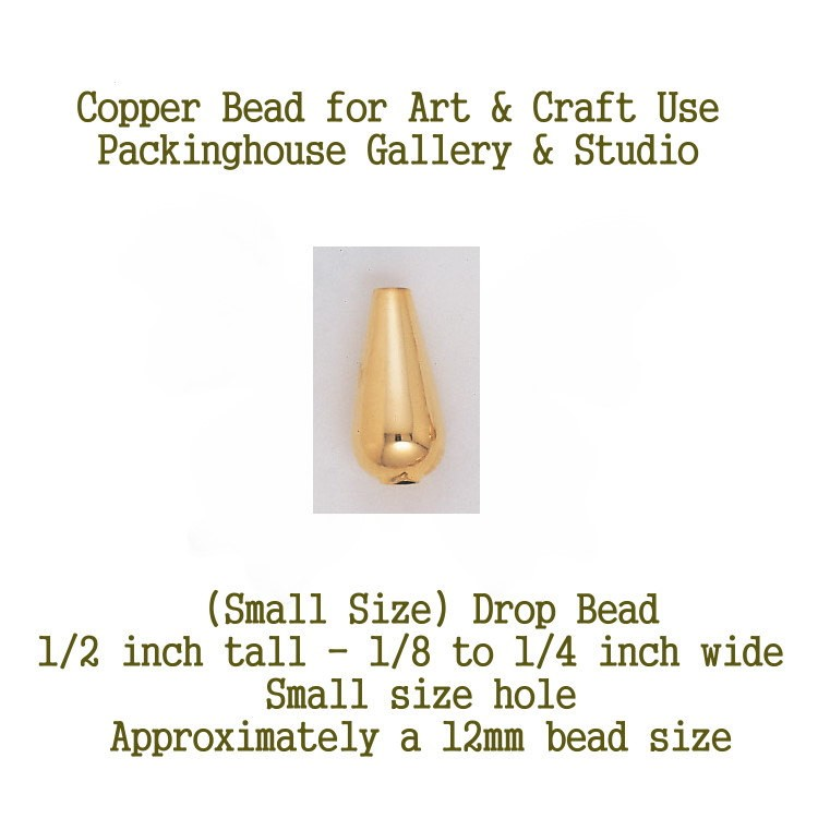 Drop Bead (Small Size) Copper, Can be used by Glass artists, Enamel artist and metal smiths, torch fire, kiln fired