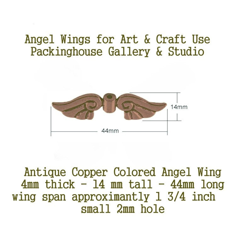 Antique Copper Angel Wing (Large Size) for Christmas Angels, Spiritual Angels, Birthday Angels