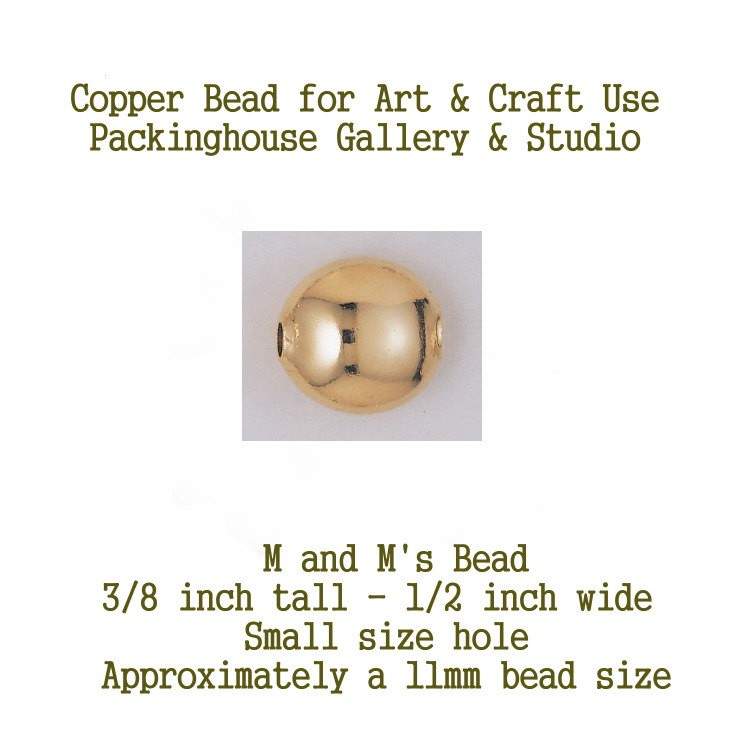 M & M's Beads, Copper Beads,  Can be used by Glass artists, Enamel artist and metal smiths, torch fire, kiln fired