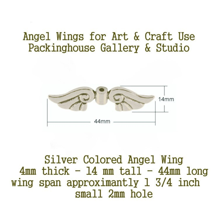 Silver Colored Angel Wing (Large Size) for Christmas Angels, Spiritual Angels, Birthday Angels