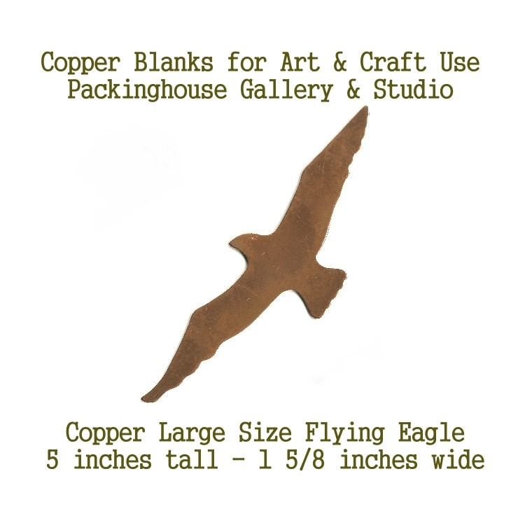 Copper Enamel Large Flying Eagle blank metal cut out made of copper for metal working, enameling and jewerly making
