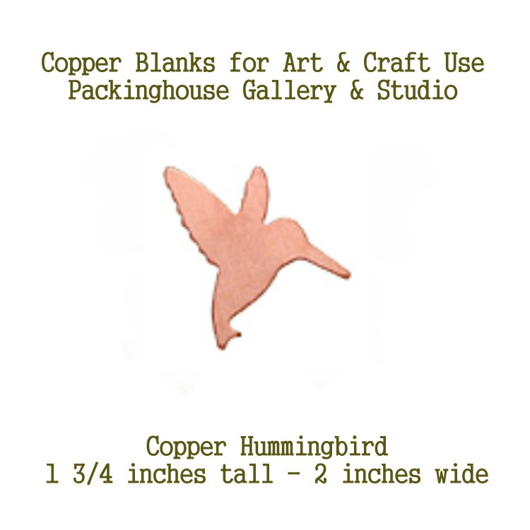 Hummingbird, Large Size, Copper Blank Shape cut outs made of copper for metal working, enameling and jewerly design, leathermaking, etching, engraving
