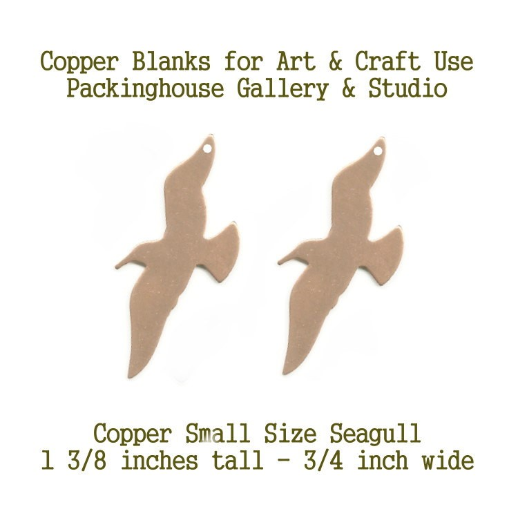 Seagull, Small, Earrings Copper, Copper Seagull, Blank Shape, stamping blanks, copper blanks, metal working, enameling and jewerly making