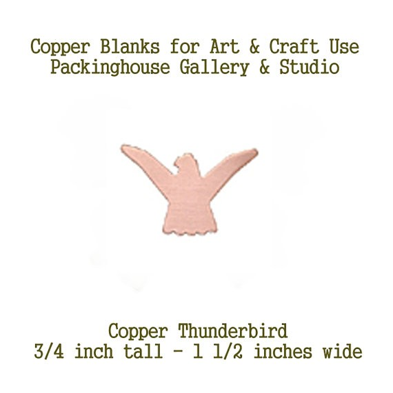 Copper Thunderbird Wings Up, Copper blank shape, blank metal cut out made of copper for metal working, enameling and jewerly making
