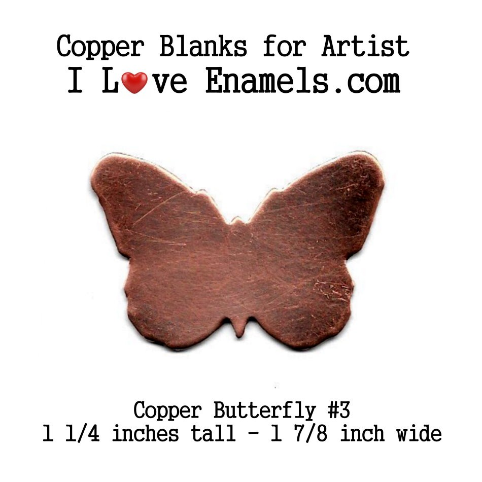 Butterfly #3 Large Size, Copper Metal Blank Shape, for metal working, enameling, etching, engraving, leatherworking and jewerly