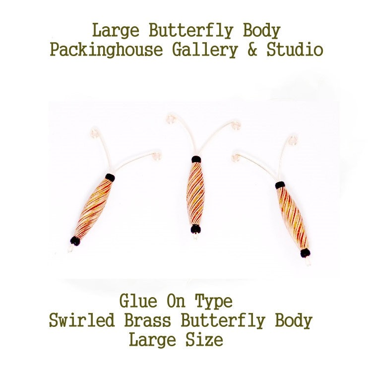 Butterfly Body (Large Size) glue in place, great for butterfly bodies that have been decorated very professional look nice 3 d effect.
