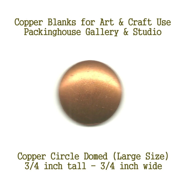 Circle Large Size (Domed) copper metal, blank metal cut out made of copper for metal working, enameling and jewerly making