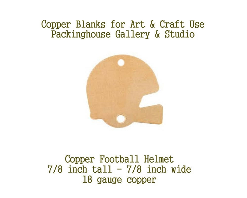 Football Copper Metal Blank (with hole) on top