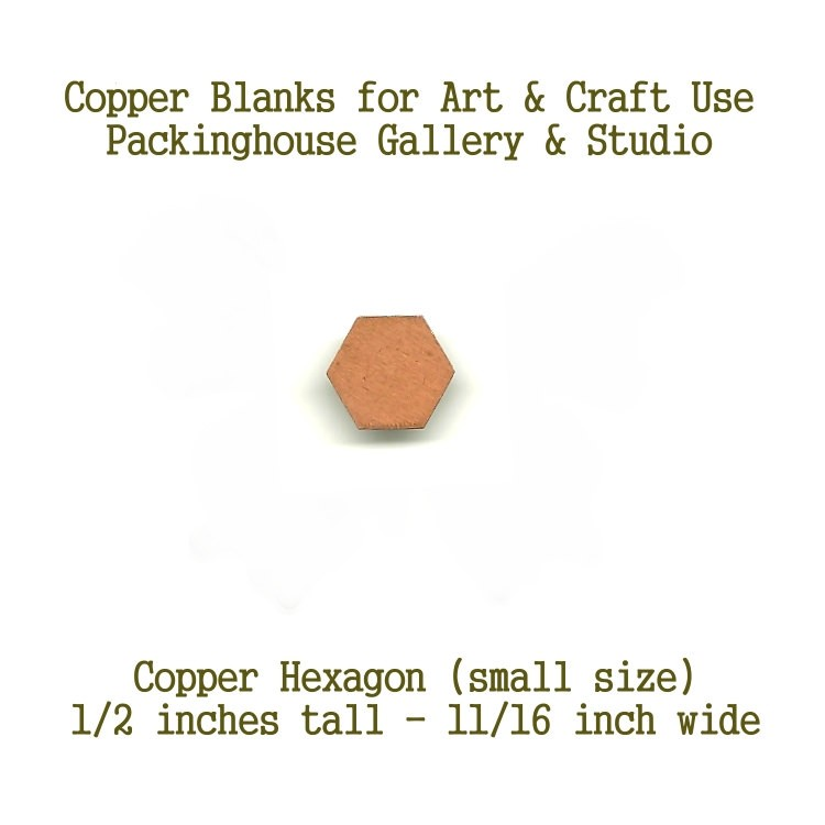 Hexagon, Small Size Copper Shape Small Size for artist