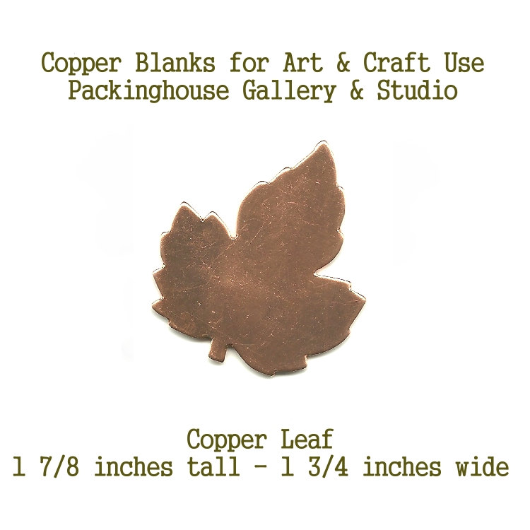Red Maple or Amur Maple Leaf Large, Copper, Leaf, Blank Shape cut outs made of copper for metal working, enameling and jewerly making, sculpture, leatherworking, etching
