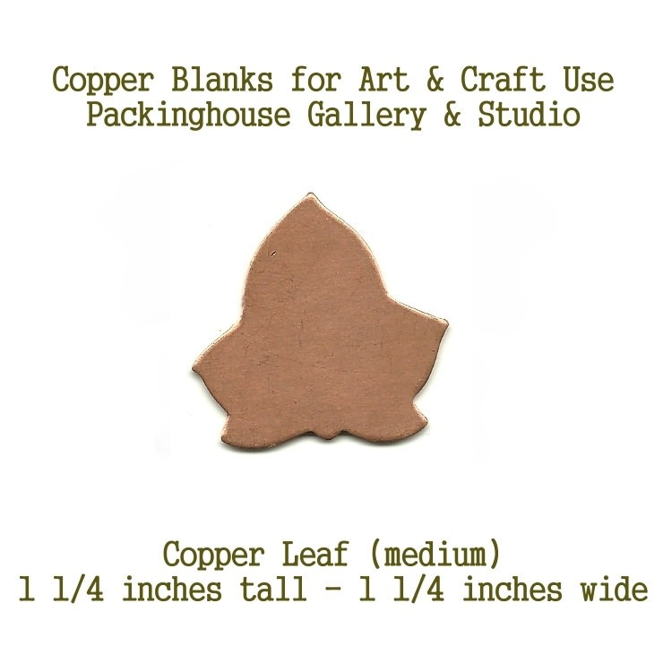 Ivy Leaf or London Planetree (medium size) Metal pieces cut out of copper for metal working, enameling and jewerly making