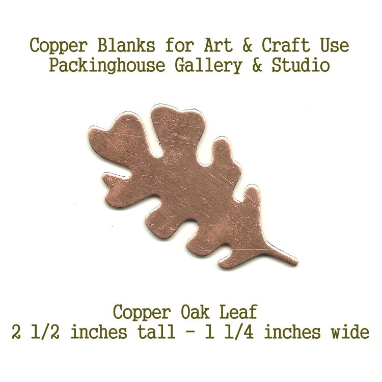 Oak Leaf Large, Copper, Shapes, Oak Leaf, Blank Shape cut outs made of copper for metal working, enameling and jewerly making