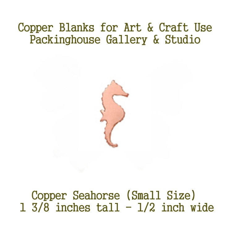 Seahorse Small Size, Copper Blank made of copper for metal working, enameling and jewerly making