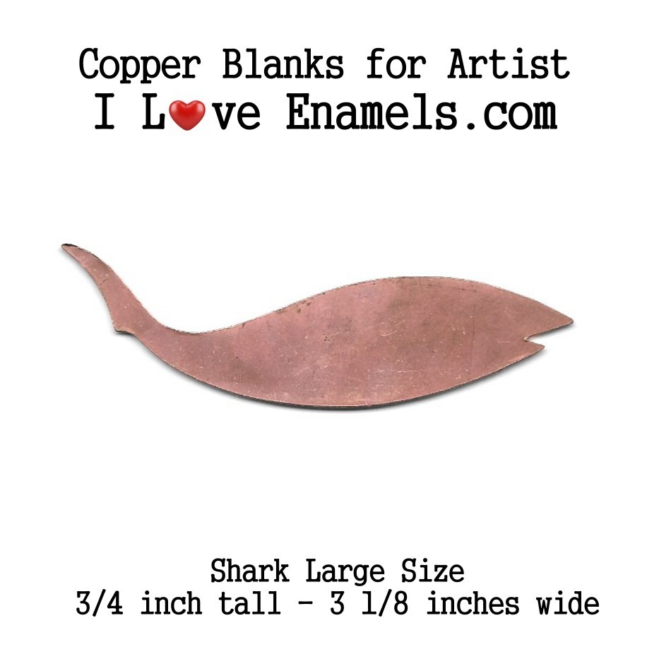 Shark or Large Fish, Copper Stamping Blank, Flat,Copper Blanks, Copper Shapes, metalworking, leather, engraving, etching, enameling