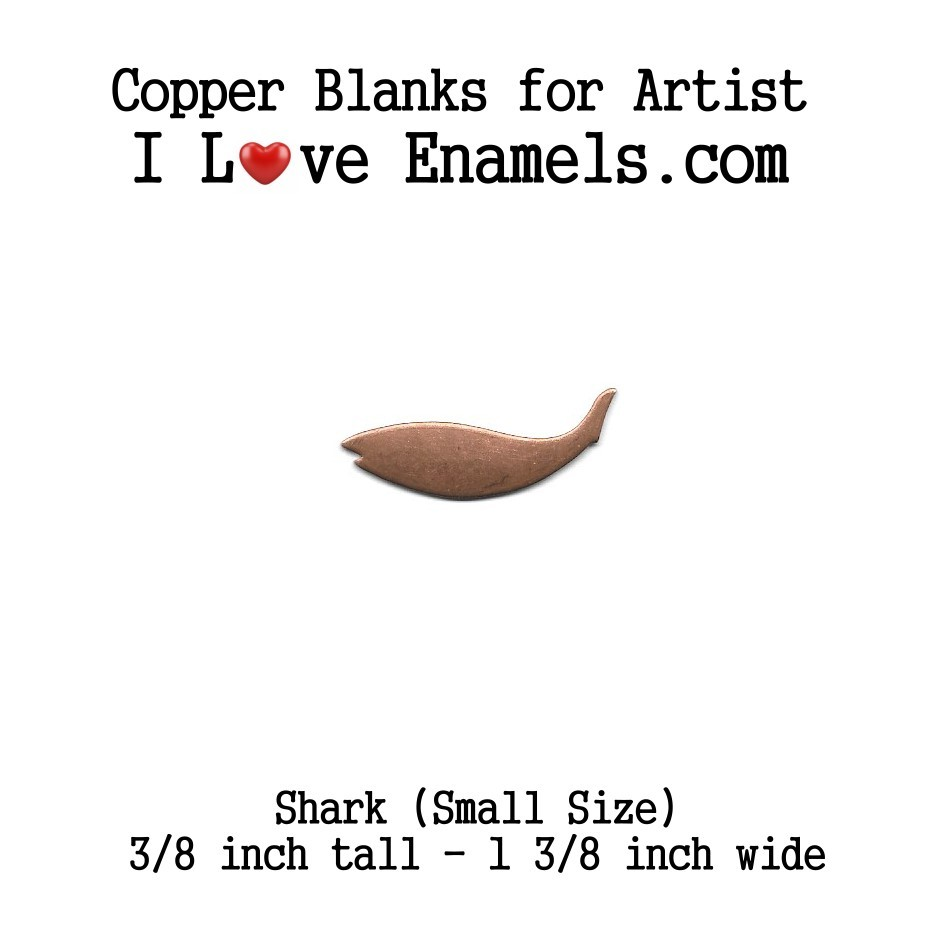 Shark or Small Fish, Copper Blank made of copper for metal working, enameling and jewerly making