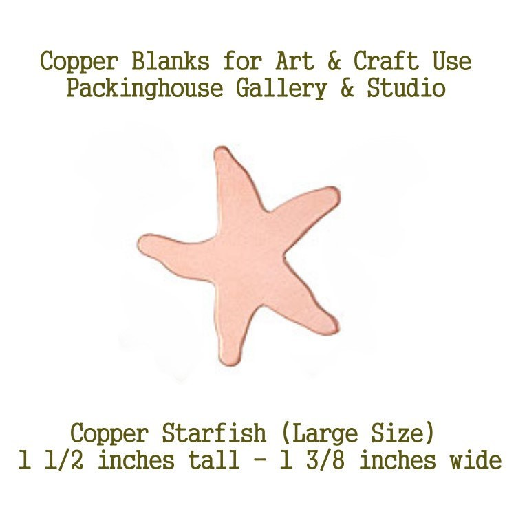 Starfish, Large Size, Copper, Stamping Blanks, Enameling Blanks, Painting Blanks, Metal Blanks