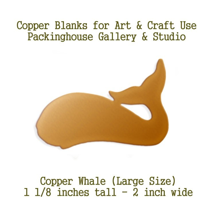 Whale Large Size, Copper Whale, Copper Blank Whale, Stamping Blank Whale, Enameling Jewelry Whale, Sealife Jewerly, Ocean Whale, Enamel Whale