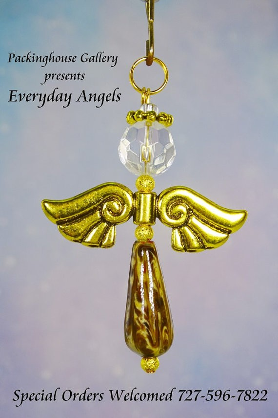 Sugar and Spice Torch Fired Enameled Angels, Angel Keychain, Angel Necklace, Angel Ornament, Angel Decoration, Angel Pendant, Prayer Angel (COPY)