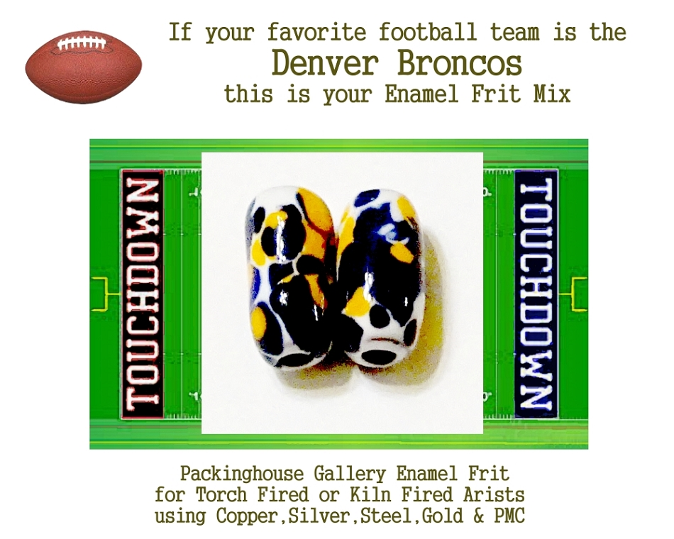 Denver Broncos Football, Enamel Glass Frit, Football Team Colors, Football Spirit and Pride,  Football Jewlery and Gifts