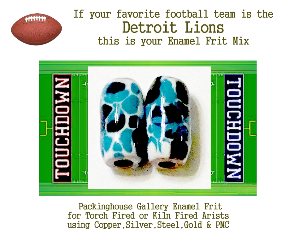 Detroit Lions Football, Enamel Glass Frit, Football Team Colors, Football Spirit and Pride,  Football Jewlery and Gifts