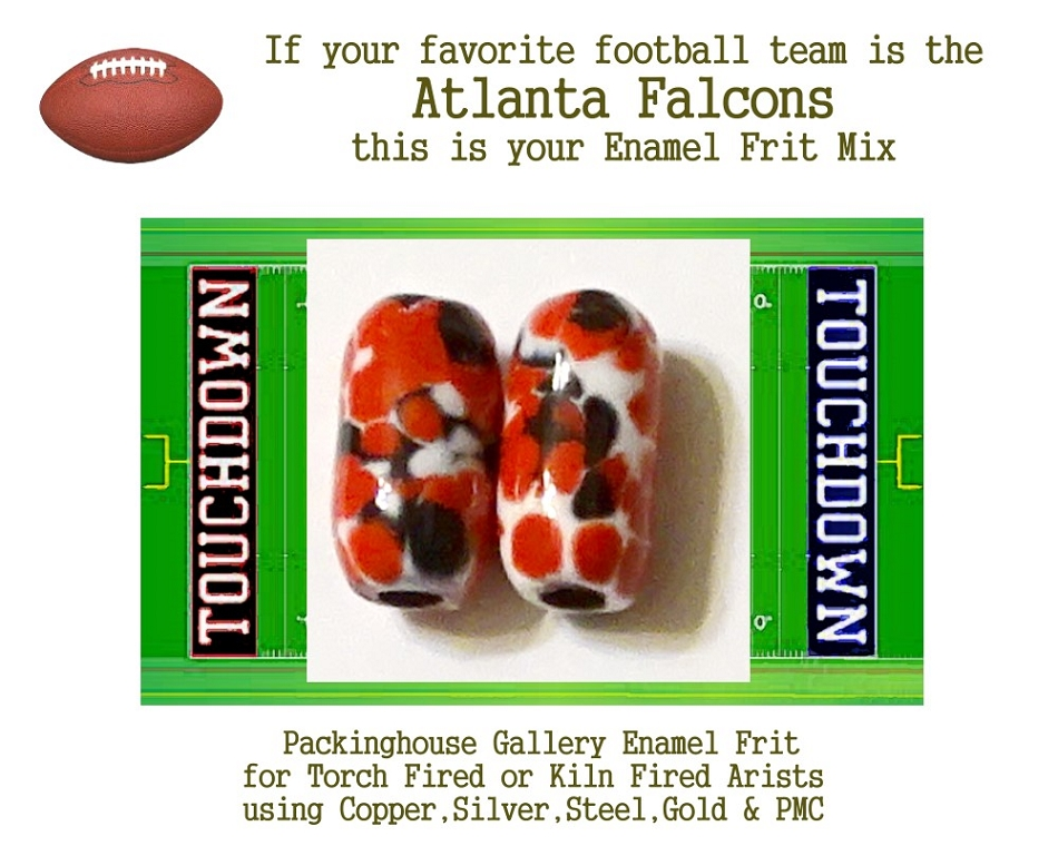 Atlanta Falcons Football, Enamel Glass Frit, Football Team Colors, Football Spirit and Pride,  Football Jewlery and Gifts