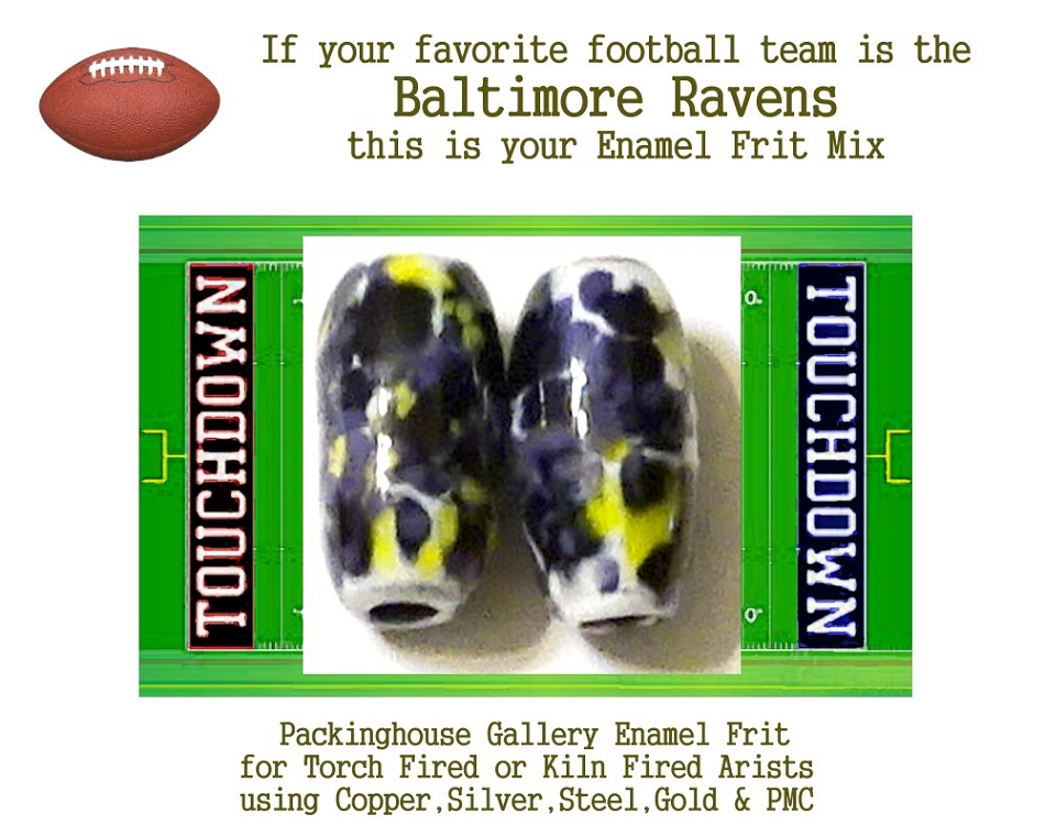Baltimore Ravens Football, Enamel Glass Frit, Football Team Colors, Football Spirit and Pride,  Football Jewlery and Gifts