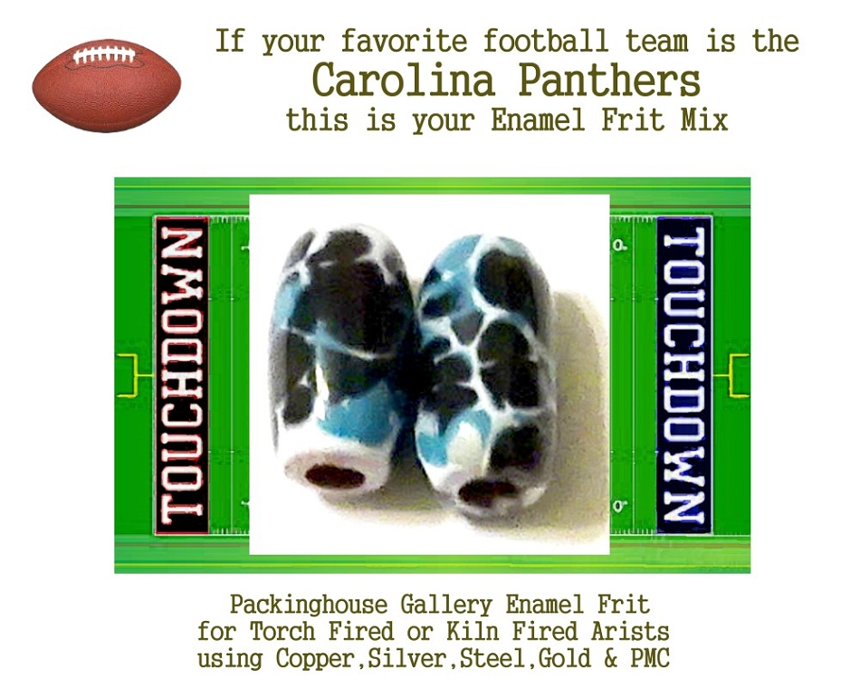 Carolina Panthers Football, Enamel Glass Frit, Football Team Colors, Football Spirit and Pride,  Football Jewlery and Gifts