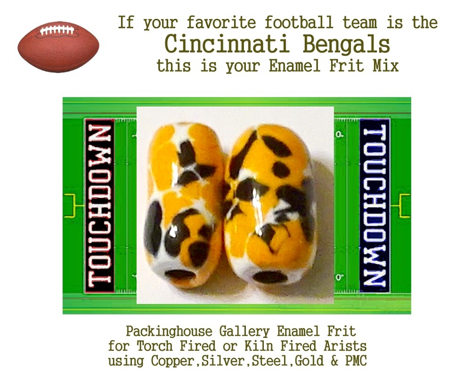 Cincinnati Bengals Football, Enamel Glass Frit, Football Team Colors, Football Spirit and Pride,  Football Jewlery and Gifts