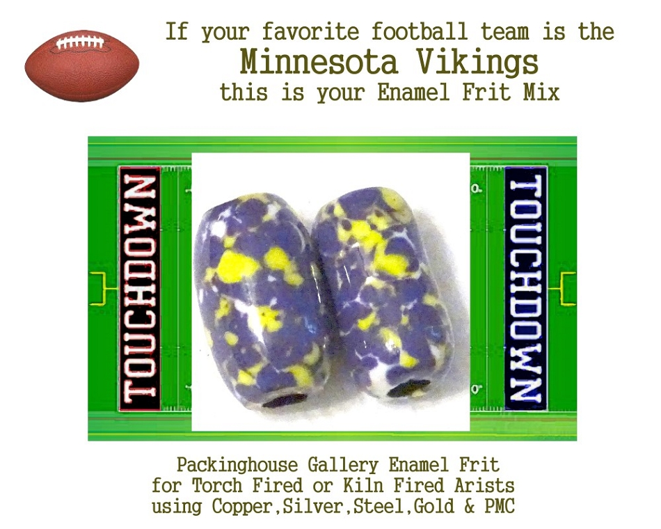 Minnesota Vikings Football, Enamel Glass Frit, Football Team Colors, Football Spirit and Pride,  Football Jewlery and Gifts